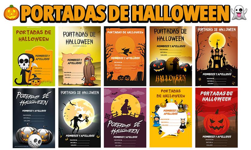 Portadas de Halloween para Cuadernos en Word