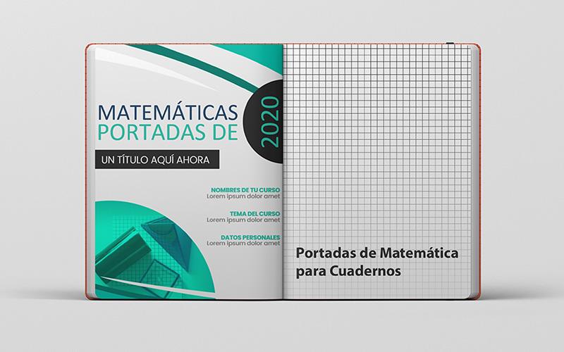 Portadas de Matemáticas para Cuadernos en Word