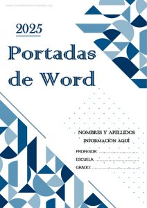 Portadas Word: Colección Junio 2021 N° 10