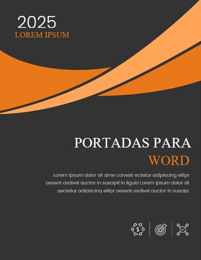 Portadas en Word para Trabajos Formal Naranja
