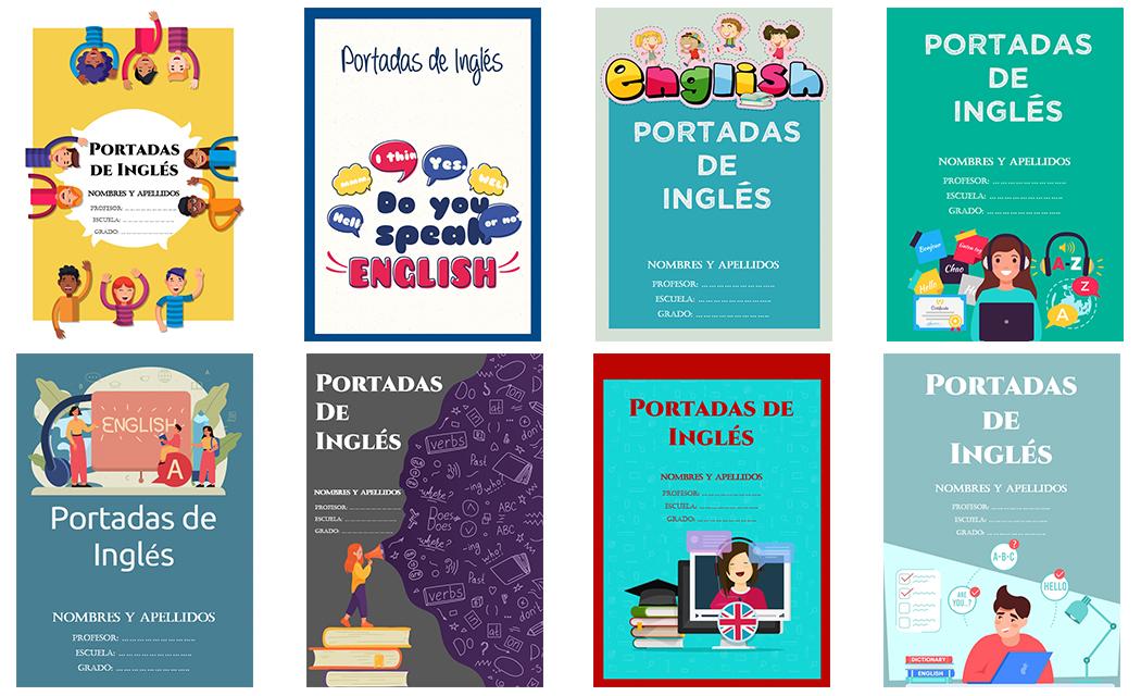 Portadas para Cuadernos de Inglés