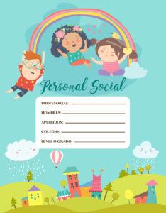 Portadas para cuadernos de personal social nivel primaria