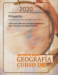 Portadas para curso de geografía gratis