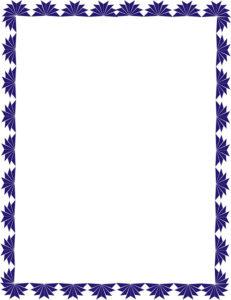 caratula azul con diseño de filos