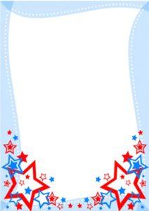 caratula celeste con diseño de estrellas