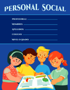 caratula de personal social para educación secundaria