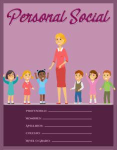 caratula de personal social para niños de nivel primario