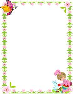 caratula infantil con diseño de mariposa y niña
