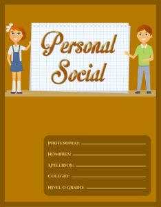 caratula para cuaderno de personal social primaria