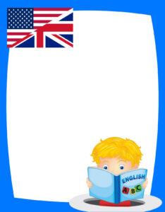 caratula para curso de inglés para inicial