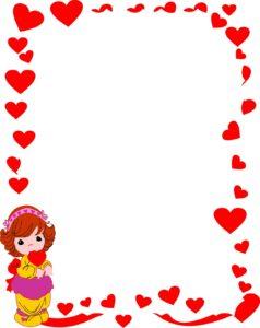 caratula roja con diseño de corazones