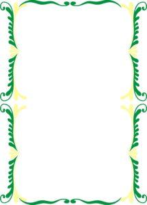 caratula verde con diseño de arcos de plantas