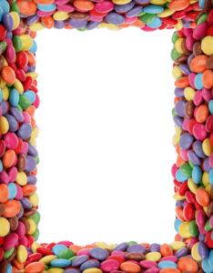 caratulas con diseño de m&m chocolates de colores