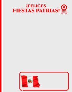 caratulas de fiestas patrias peruanas con escarapela y bandera del Perú