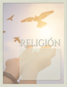 caratulas de religión con diseño de paloma de la paz volando