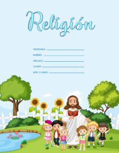 caratulas de religión para niños