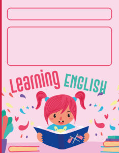 caratulas para cuadernos ingles de primaria niña aprendiendo