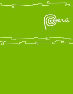 caratulas para monografias color verde con diseño Marca Perú