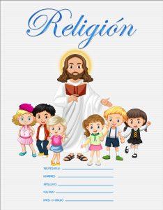 imágenes de caratulas de religión para niños