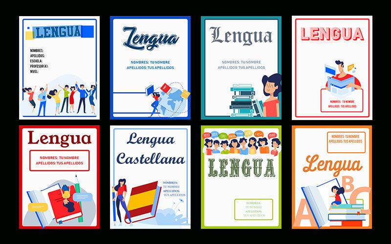 las mejores portadas de lengua y literatura para word