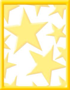 modelo de caratula con diseño de estrellas