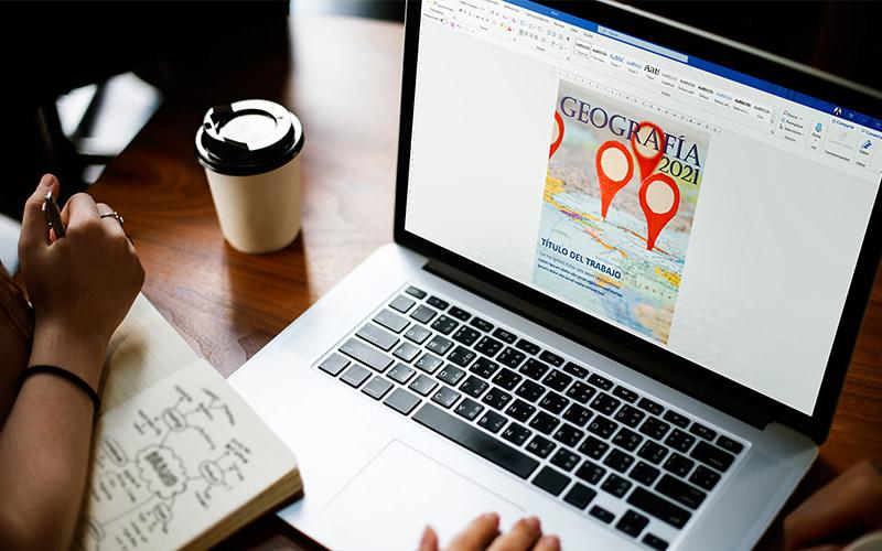 portada de geografía para trabajos en word