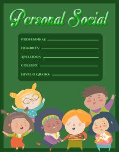 portada de personal social nivel primaria para cuadernos