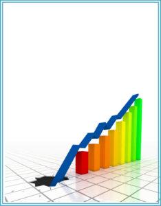 portada para trabajos con diseño del curso de negocios y estadística