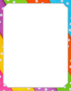 portada para trabajos con diseños de rayas de colores