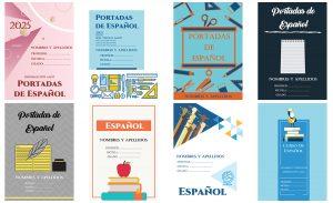 portadas de español gratis para word