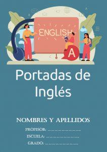 portadas de inglés para cuadernos