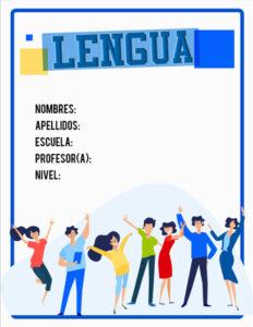 portadas de lengua castellana color azul