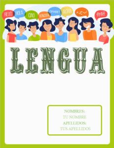 portadas de lengua castellana color verde