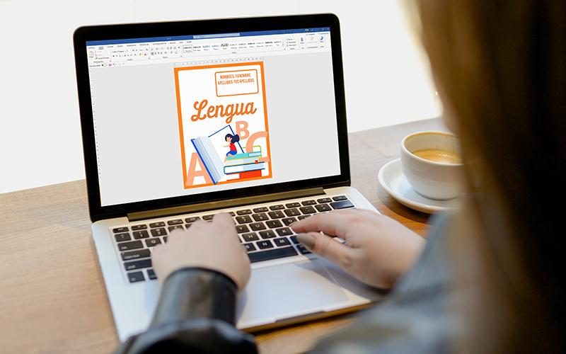 portadas de lengua y literatura para trabajos en cuadernos y word