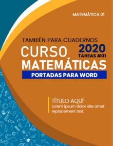 portadas de matemáticas formal para word