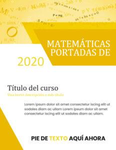 portadas de matemáticas para imprimir