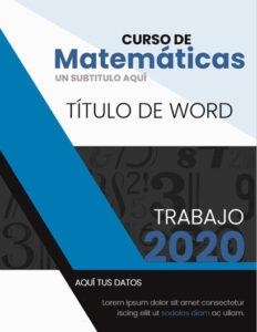 portadas para cuadernos de matemáticas
