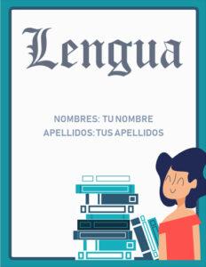 portadas para lengua castellana bonitas para imprimir
