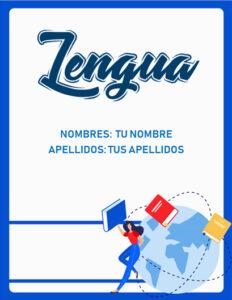 portadas para lengua castellana fáciles para imprimir