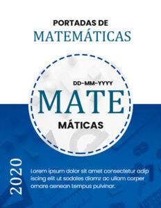 portadas para matemáticas color azul para word
