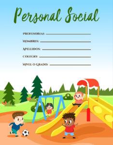 portadas para tareas de personal social con caratulas de cuadernos